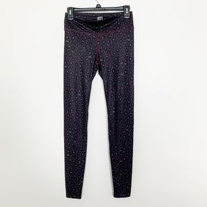 JOYLAB Leopard Printed Yoga Legging Purple S #2821